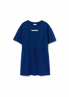 Lacoste Women's Short Sleeve Branded Belted T-Shirt Dress