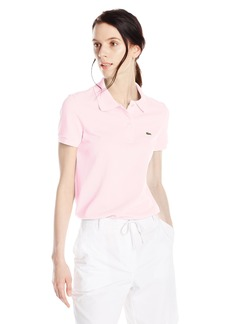 Lacoste Women's Short Sleeve Classic Fit Pique Polo Flamingo Pink 42
