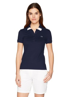 Lacoste Women's Short Sleeve Classic Stretch Pique Fancy Polo Pf3063