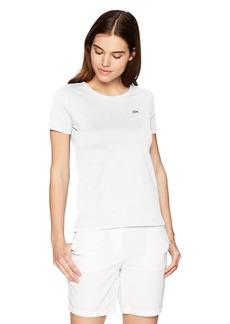 Lacoste Women's Short Sleeve Classic Supple Jersey Crew Neck T-Shirt Tf3080