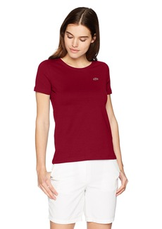 Lacoste Women's Short Sleeve Classic Supple Jersey Crew Neck T-Shirt Tf38