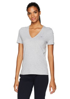 Lacoste Womens Short Sleeve Classic Supple Jersey V-Neck T-Shirt T-Shirt