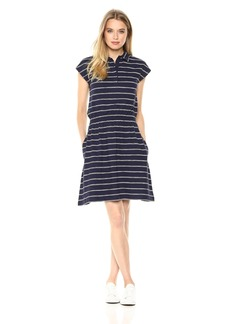Lacoste Women's Short Sleeve Jersey Hand Made Stripes Dress Ef3090