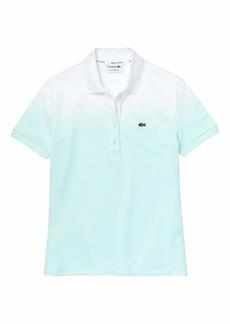 Lacoste Women's Short Sleeve Ombre Polo Shirt Igloo/Light Igloo-White