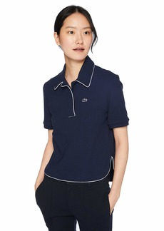 Lacoste Women's Short Sleeve PIMA Cotton Athleisure Badge Polo