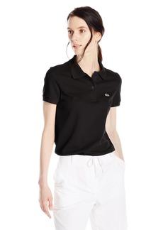 Lacoste Women's Short Sleeve Pique Classic Fit Polo Shirt Black 32