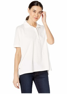 Lacoste Women's Short Sleeve Relaxed Fit Lyocell-Cotton Polo  M