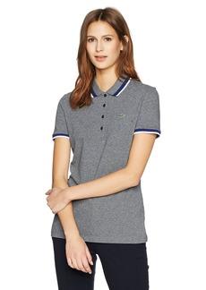 Lacoste Women's Short Sleeve Semi Fancy Stretch Mini Pique Polo