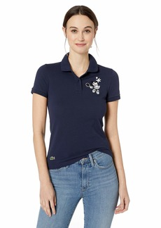 Lacoste Women's Short Sleeve Slim FIT Disney Polo Navy Blue