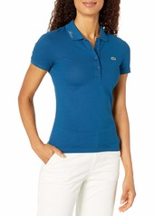 Lacoste Women's Short Sleeve Slim FIT Logo Collar Polo
