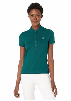 Lacoste Women's Short Sleeve Slim FIT Stretch Pique Polo BEECHE