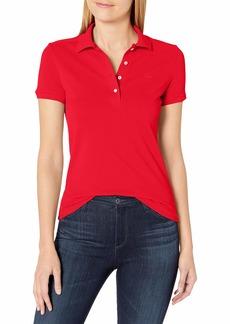 Lacoste Women's Short Sleeve Slim Fit Stretch Pique Polo Shirt