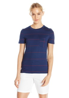Lacoste Women's Short Sleeve Windowpane Print Tee Shirt