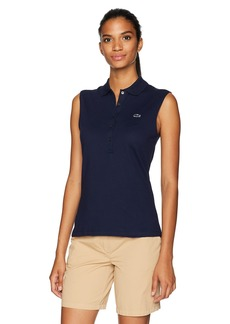 Lacoste Women's Sleeveless Slim Fit Stretch Mini Piqué Polo