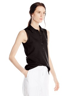 Lacoste Women's Sleeveless Stretch Pique Slim Fit Polo Shirt  34