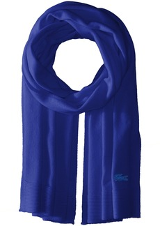 Lacoste Women's solid Fine Jersey Cashmere Scarf