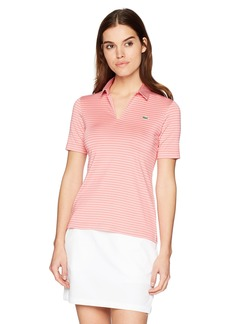 Lacoste Women's Sport Jersey Rayon Striped Golf Performance Polo Pf315