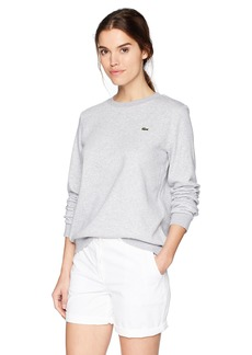 Lacoste Women's Sport Long Sleeve Fleece Crewneck Sweatshirt SF7975