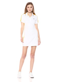 Lacoste Women's Sport Mini Pique Ultra Dry Tipped Tennis Polo Dress Ef34