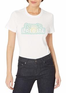 Lacoste Women's Sport Short Sleeve Tennis Graphic T-Shirt