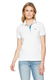 Lacoste Women's Sport Stretch Cotton Semi Fancy Golf Polo Pf326
