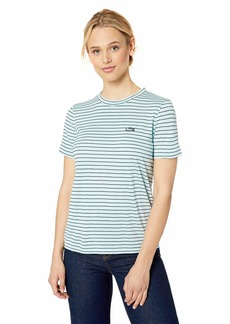 Lacoste Women's S/S Crewneck Striped Jersey TEE Shirt