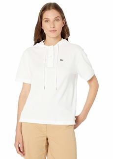 Lacoste Women's S/S Hooded TEE-Shirt