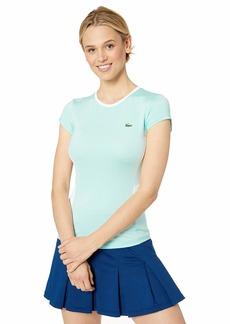 Lacoste Women's S/S Jersey Performance Tennis TEE Shirt Aquarium White