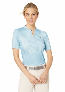 Lacoste Women's S/S Jersey Technical Printed Golf Polo