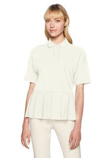 Lacoste Women's Ss Pleated Polo  36/US  (S)