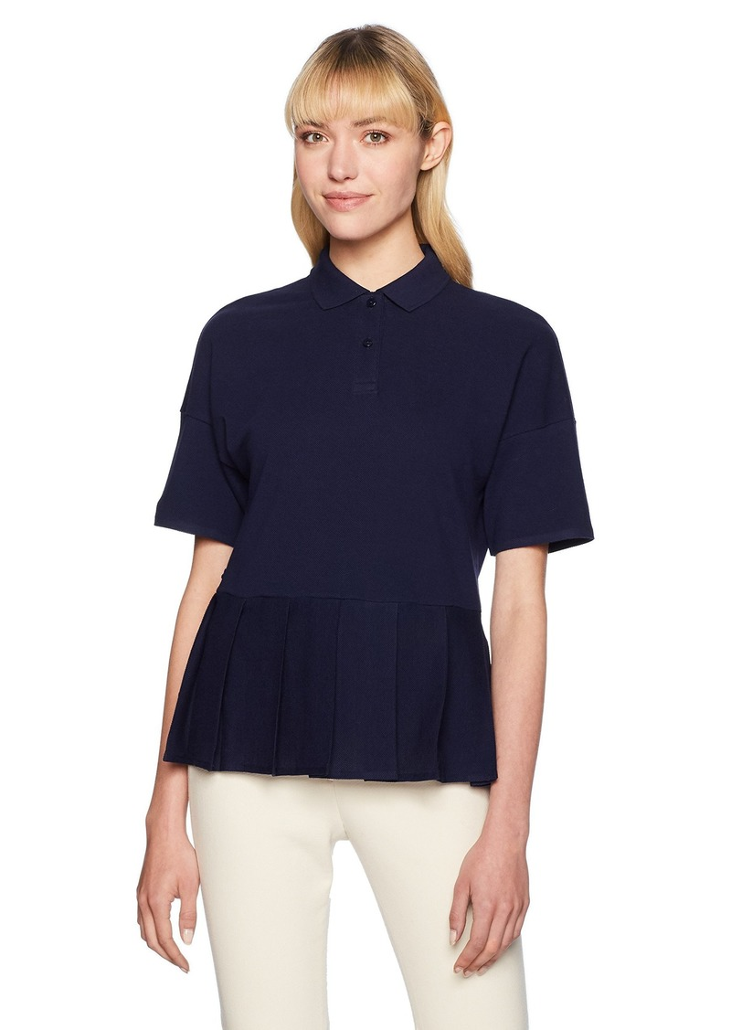 c13191eec1b Lacoste Lacoste Women's Ss Pleated Polo Lacoste 42/US (XL)   Casual ...