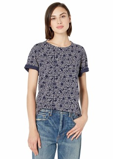 Lacoste Women's S/S Relaxed FIT Keith Haring All Over Print TEE Shirt