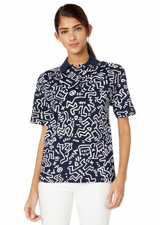 Lacoste Women's S/S Relaxed FIT Keith Haring Polo