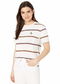 Lacoste Women's S/S Relaxed FIT Striped TEE Shirt