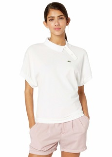 Lacoste Women's S/S Side Button Collar Polo