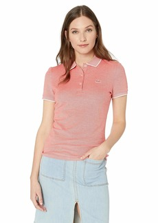 Lacoste Women's S/S Slim FIT Caviar Pique SEMI Fancy Polo SALVIA/Flour