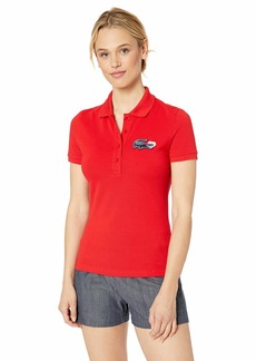 Lacoste Women's S/S/Slim FIT Valentines Day Croc Polo red