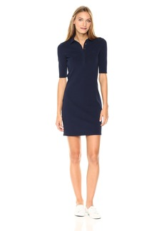 Lacoste Women's Stretch Half Sleeve Cotton Piqué Polo Dress