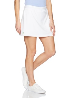 Lacoste Women's Technical Jersey Skirt with Feminine Cut at Bottom