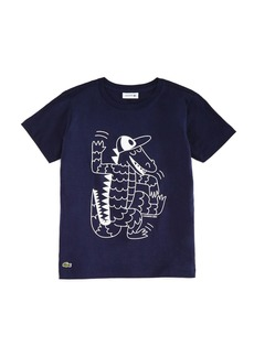 Lacoste x Omy Boys' Crocodile Graphic Tee - Little Kid, Big Kid