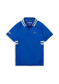 Little Boy's & Boy's Lacoste Sport x Novak Djokovic Breathable Lightweight Polo Shirt
