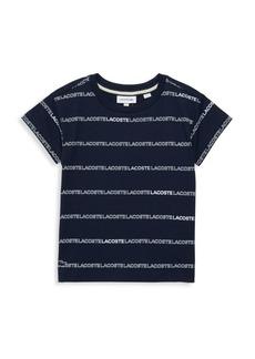 Lacoste Little Boy's & Boy's Logo Stripe Tee