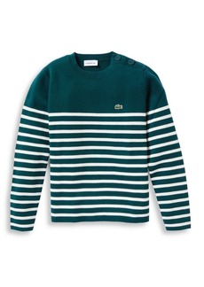 Lacoste Little Boy's & Boy's Milano Striped Sweater