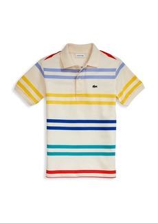 Lacoste Little Boy's & Boy's Multi-Striped Polo
