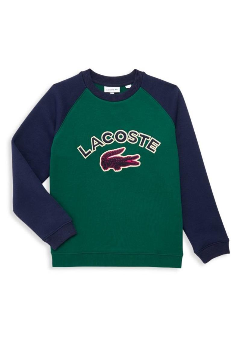 Lacoste Little Boy's & Boy's Raglan-Sleeve Logo Sweatshirt