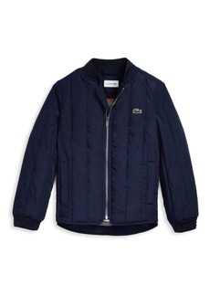 Lacoste Little Boy's & Boy's Teddy Quilted Bomber Jacket