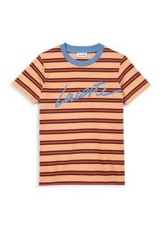 Lacoste Little Boy's and Boy's Stripe Cotton T-Shirt