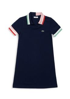 Lacoste Little Girl's & Girl's Colorblock Accents Cotton Piqué Polo Dress