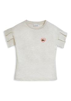 Lacoste Little Girl's & Girl's Heart Badge T-Shirt