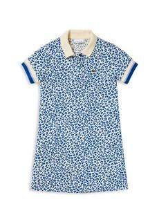 Lacoste Little Girl's & Girl's Leopard-Print Polo Shirt Dress